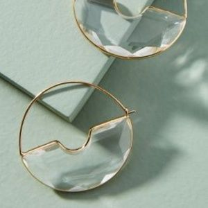 Anthropologie Temperance Hoop Crescent Earrings